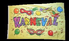 Flagge Karneval gelb - 90 x 150 cm