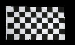 Flagge Karo Schwarz Weiß Zielflagge