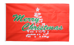 Flagge Merry Christmas Weihnachtsbaum - 90 x 150 cm