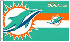 Flagge NFL Miami Dolphins Logo - 90 x 150 cm