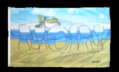 Flagge Moin Sandstrand - 90 x 150 cm