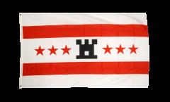 Flagge Niederlande Drenthe - 90 x 150 cm