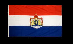 Flagge Niederlande mit Wappen
