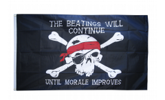 Flagge Pirat Beatings will continue 2 - 90 x 150 cm