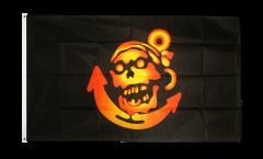 Flagge Pirat golden mit Anker