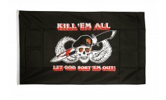 Flagge Pirat Kill 'em all - 90 x 150 cm