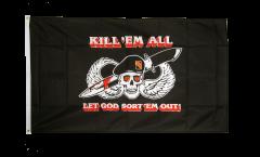 Flagge Pirat Kill 'em all