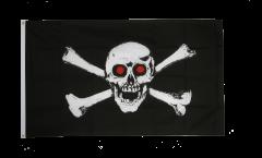 Flagge Pirat mit roten Augen - 90 x 150 cm