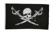 Flagge Pirat mit Säbel - 90 x 150 cm