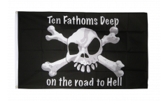 Flagge Pirat Ten fathoms deep - 90 x 150 cm