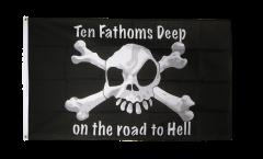 Flagge Pirat Ten fathoms deep