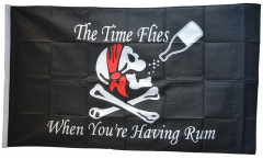 Flagge Pirat The Time Flies When You are Having Rum - 90 x 150 cm