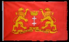 Flagge Polen Danzig mit großem Wappen