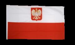 Flagge Polen mit Adler - 90 x 150 cm