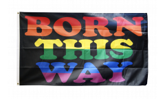 Flagge Regenbogen Born This Way - 90 x 150 cm