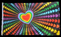 Flagge Regenbogen Liebe - 90 x 150 cm