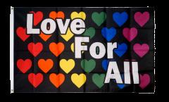 Flagge Regenbogen Love For All