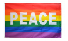 Flagge Regenbogen mit PEACE