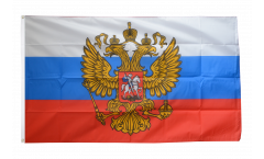 Flagge Russland mit Wappen - 90 x 150 cm