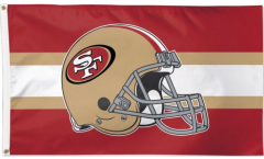 Flagge NFL San Francisco 49ers Helmet - 90 x 150 cm