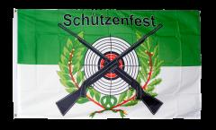 Flagge Schützenfest mit Zielscheibe - 90 x 150 cm