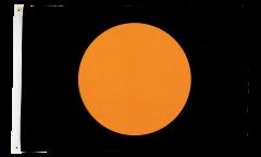 Flagge Schwarz mit orangenem Kreis - 60 x 90 cm
