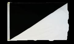 Flagge Schwarz weiß diagonal - 60 x 90 cm