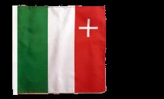Flagge Schweiz Kanton Neuenburg - 30 x 30 cm