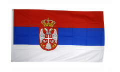Flagge Serbien mit Wappen - 90 x 150 cm