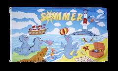 Flagge Sommer - 90 x 150 cm