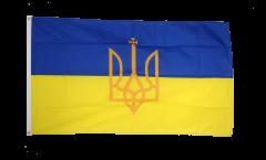 Flagge Ukraine mit Wappen - 90 x 150 cm