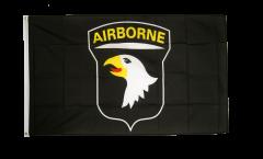 Flagge USA 101st Airborne, schwarz - 90 x 150 cm