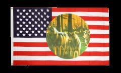 Flagge USA 3 Wölfe - 90 x 150 cm
