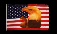 Flagge USA Adler mit Träne - 90 x 150 cm