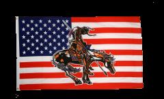 Flagge USA End of trail - 90 x 150 cm