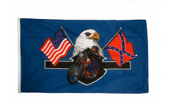 Flagge USA Highway Hero Biker - 90 x 150 cm