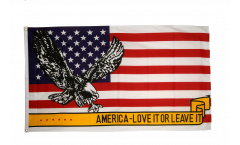 Flagge USA Love it or leave it - 90 x 150 cm