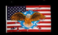 Flagge USA mit breitem Adler - 90 x 150 cm