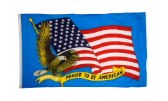 Flagge USA Proud to be American - 90 x 150 cm