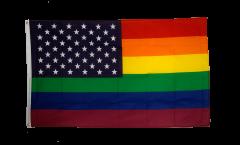Flagge USA Regenbogen - 90 x 150 cm