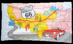 Flagge USA Route 66 - 90 x 150 cm