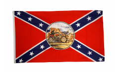 Flagge USA Südstaaten Ghost Rider - 90 x 150 cm