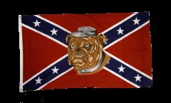 Flagge USA Südstaaten mit Bulldogge - 90 x 150 cm