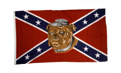 Flagge USA Südstaaten mit Bulldogge