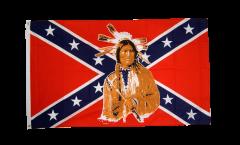 Flagge USA Südstaaten mit Indianer - 90 x 150 cm