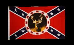 Flagge USA Südstaaten mit Reh - 90 x 150 cm