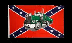 Flagge USA Südstaaten mit Truck - 90 x 150 cm
