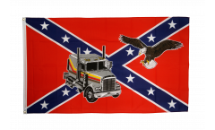 Flagge USA Südstaaten Truck mit Adler - 90 x 150 cm