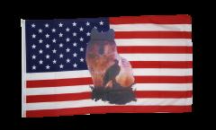 Flagge USA Wolf mit Adler - 90 x 150 cm