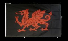 Flagge Walisischer Drache schwarz - 90 x 150 cm